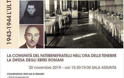 Shoah: Fatebenefratelli, convegno a Roma sull'opera dei frati a difesa degli ebrei della Capitale